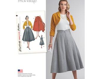 Simplicity Pattern 8250 Misses' Vintage 1950's Skirt and Bolero