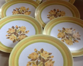 Plates,Melamine,Plastic Dinner Plates, Set of 7