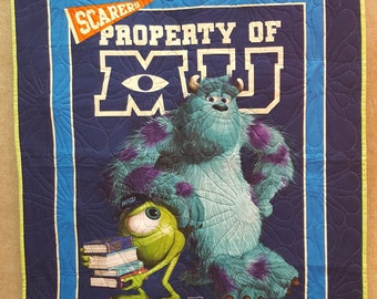 Monsters Inc University Quilt Toddler Baby Blanket FREE SHIPPING!