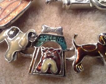Vintage Doggy Canine Magnetic Enamel Bracelet
