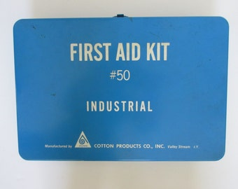 Vintage Industrial #50 First Aid Kit Acme First Aid Kit Wall Hanging First Aid Kit