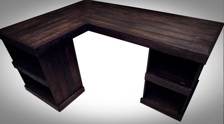 Handmade Recycled pallet Corner Desk Left Hand Corner