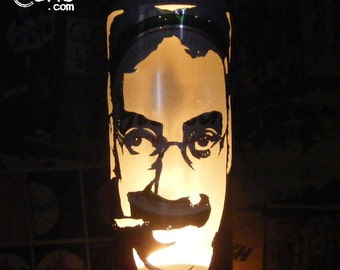 Groucho Marx Beer Can Lantern: Marx Brothers Pop Art Lamp, Duck Soup - Unique Gift!