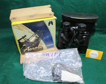 New in Box Swift Aerolite Series  7 x, 35  ZCF Binoculars Model No. 734 - with case and strap