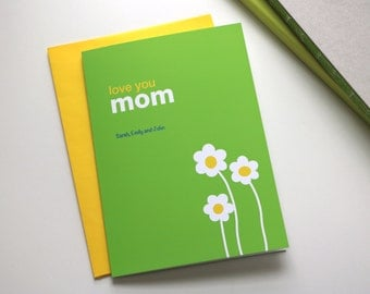 Love you card, Mom card, Personalized mom card, mother's Day