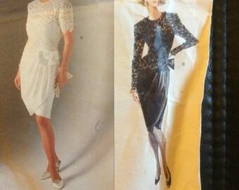Albert Nipon Vogue Designer Patterns 2492 dress size 12