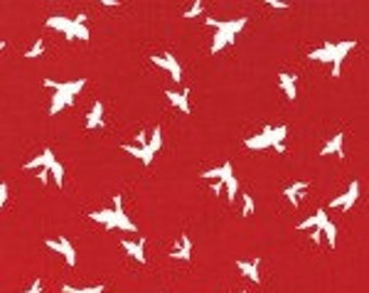 CHRISTMAS at BRAMBLEBERRY RIDGE Flight in Red by Violet Craft for Michael Miller Fabrics