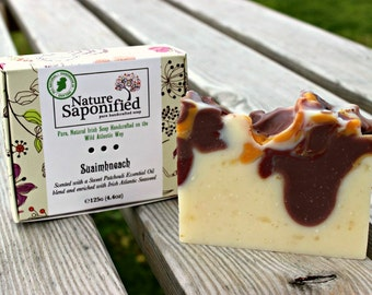 Suaimhneach Luxury Irish Soap. Patchouli Soap, Seaweed Soap, Clay Soap, Natural Soap, Essential Oil Soap, Botanical, Artisan Soap, Soap Gift