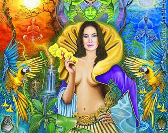 The Goddess of Water 12x15 print on canvas by Jose SolEda