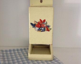 Wooden match holder