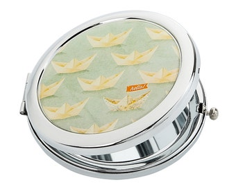 Sea Ship Pocket Mirror // purse mirror - compact mirror - bridesmaid gift