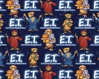 E.T. with animals cotton fabric by Springs Creative