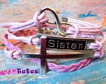 Sister Handmade Multilayer Braided Infinity Bracelet
