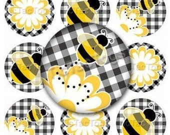 Bumble Bee Edible Cupcake Topper Decorations - Set of 12 Toppers