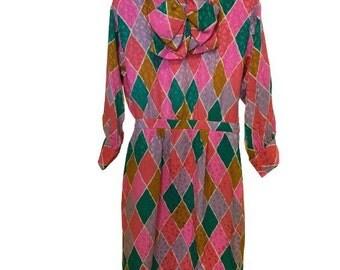 SOLD OUT! Yves saint laurent vintage silk dress