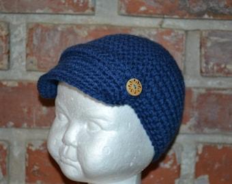 Newsboy Hat, Crochet Newsboy Hat, Crochet boys hat, Crochet girls hat, crochet hat, girls hat, boys hat, newsboy cap.