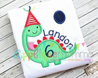 Birthday Dino Applique Design