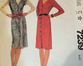 "Vintage 1980 ""Uncut"" McCall's Sewing Pattern: Dress/ Jumper; Size 12"
