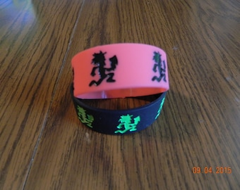 New -INSANE CLOWN POSSE Hatchetman rubber wristbands/ one of each (2-piece set)