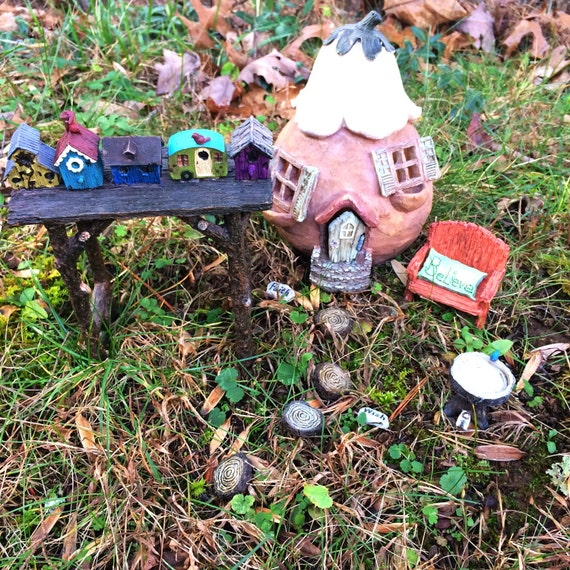Fairy garden kit fairy house fairy garden by natureimaginaries for Fairy garden kits