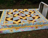 Flower Power Twin Quilt
