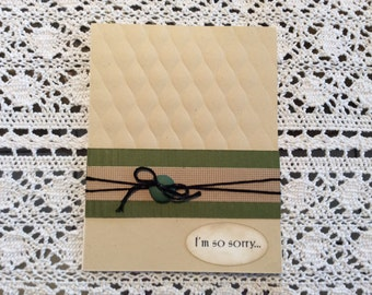Handmade Greeting Card: Symphathy card . Embossed background