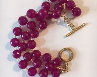 Jade and Gold Bracelet