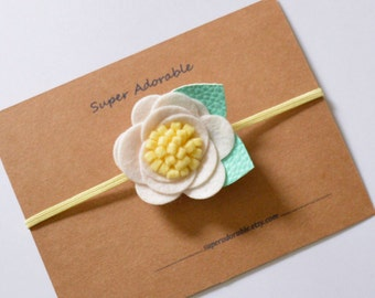 Flower Headband felt flower garland