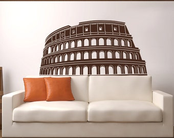 Colosseum in Rome, Italy Ancient Historical Ruins Vinyl Wall Decal