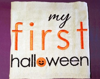 My First Halloween Embroidery Design