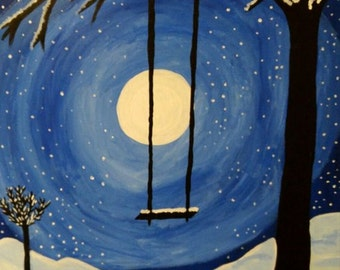 Painting Snow Swing