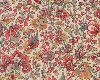 Moda Fabric French General Madame Rouge Safran 13770-12...Sold in continuous cut 1/2 yard increments