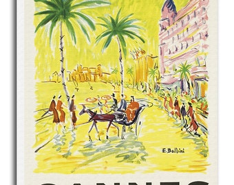 Cannes Travel Art Canvas French Decor Travel Poster Print xr699