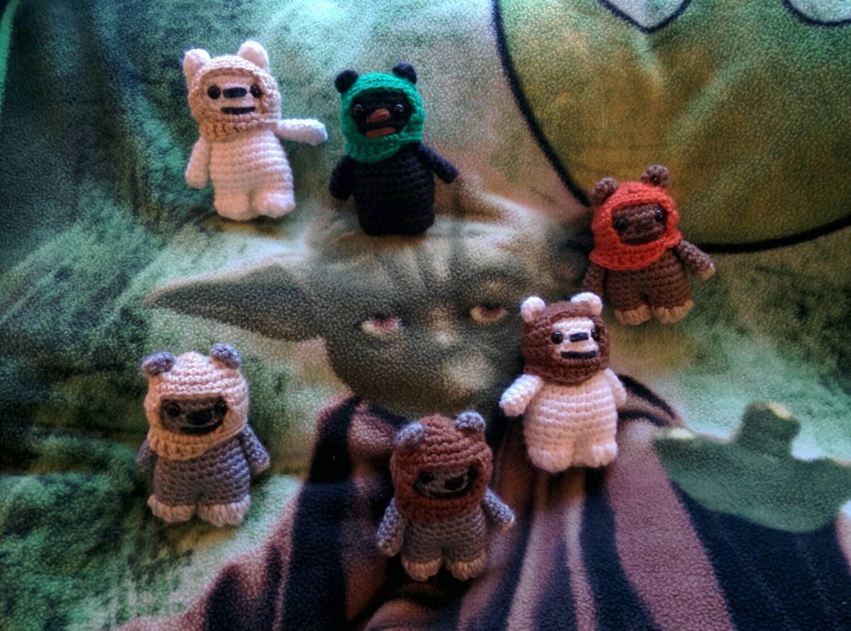 Jawa Star Wars Amigurumi : Star Wars Ewok Crocheted Amigurumi