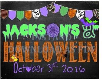 Halloween Chalkboard Sign, Customizable!