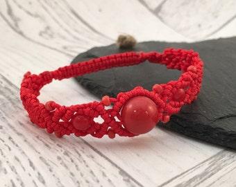 Macramé Beaded Bracelet, Ladies Bracelet, Friendship Bracelet, Boho Jewellery