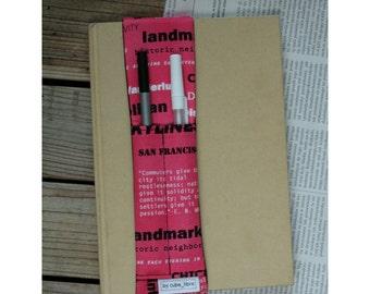 Notebook pen holder - Words