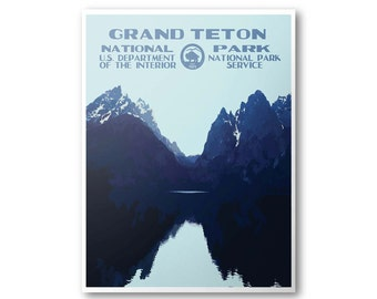 Grand Teton National Park Travel Poster