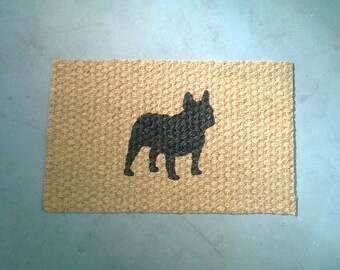 Thin French Bulldog Doormat (indoor/outdoor use)