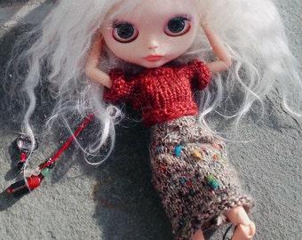 """Custom Blythe """"Nephelê"""" Ooak Art Doll"""