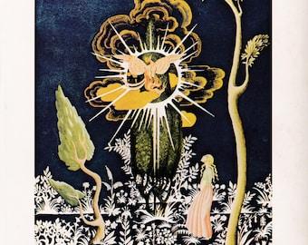Brothers Grimm Kay Nielsen vintage art nouveau print illustration folk tale fairy tale home decor The Juniper Tree 8.5x11.5 inches