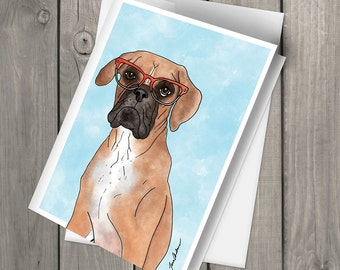 Abbie the Boxer Blank Note Card