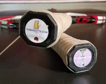 Tennis Butts are a great tennis gift idea for  tennis players and easily adheres to their tennis racket! Makes a great gift!
