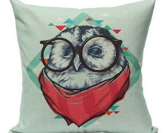Funky Owl - Pillow Cover