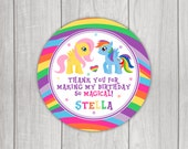 My Little Pony Inspired Favor Tags
