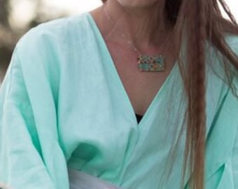 Silver macrame necklace