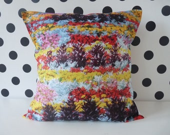 Flowers Pillow cover, pillow case, cushion cover, floral pillow , colorful pillow, flower pillow cover, pillow with flowers, Flower pillow