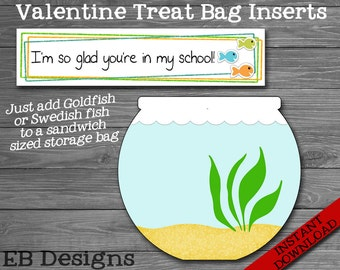 Fish Valentine Treat Bag