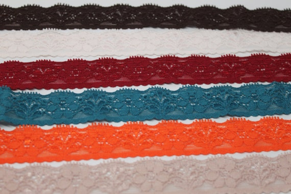 Basket Weaving Supplies Charleston Sc : Lace elastic inch by the yard for baby headbands
