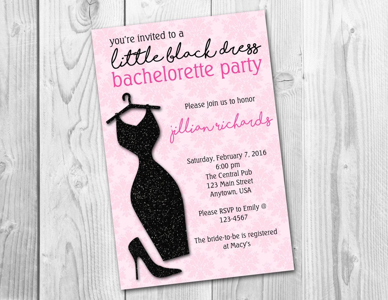 Little Black Dress Bachelorette Party/ Bridal Shower/Birthday Party ...